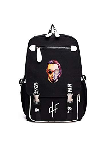 LHANZ PNL Rucksack Hip Hop große Kapazität Schultasche Reisetasche 3D-Druck Reisetasche Student Geschenk