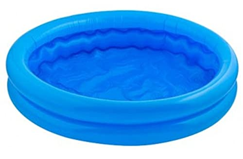 Mini Paddling Pool - 50cm Wide by10cm Deep Inflatable Two Rings Baby Paddling Pool – Assorted Colours Fun Size for Babies, Toddlers and Pets this Summer for Outdoor Activities & Fun Games Splash Swim