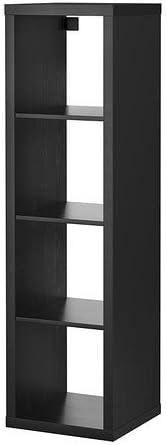 Mueble rectangular de IKEA, modelo Kallax, con 4 estantes, Black/Brown, 42x147 cm