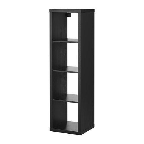 IKEA KALLAX 4 plank rechthoek zwart/bruin