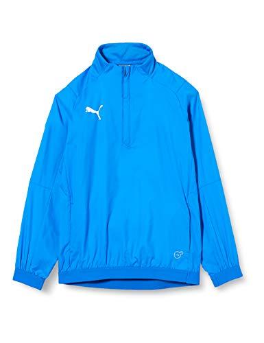PUMA Kinder Liga Training Windbreaker Jr Sweatshirt, Electric Blue Lemonade White, 164