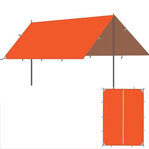 HWZP Überdachung Markise faltender teleskopischer Regen Sonnenschutz Zelt Pergola Sonnenschutz Silber UV Camping Baldachin