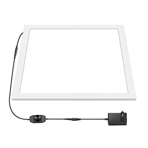 Neewer 38x38 cm Fotostudio LED Lichtpaneel tragbare schattenlose LED Füllleuchte mit Netzteil dimmbare Foto Aufnahme Box/Zelt Bodenleuchte für Produkt Lebensmittel Schmuck Kosmetik