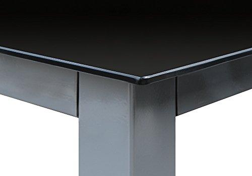 Deuba Sitzgruppe Bern 6+1 Aluminium 7-Fach verstellbare Hochlehner Stühle Tisch mit Sicherheitsglas Silber Garten Set - 9