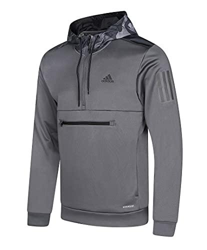 Adidas GE3218 - Sudadera con capucha para hombre, diseño de camuflaje, gris, M