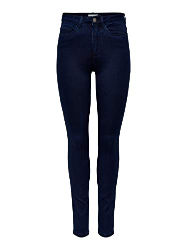 ONLY Damen Skinny Fit Jeans ONLRoyal high L30Dark Blue Denim