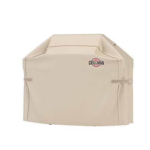 Grillman Premium BBQ Grillabdeckung Heavy Duty Gasgrill Abdeckung für Weber, Brinkmann, Char Broil etc. Reißfest, UV & Wasserfest (52 inch / 132 cm, Braun)