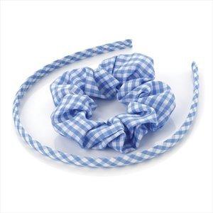 Serre-tête et élastique à cheveux pour fille Bleu
