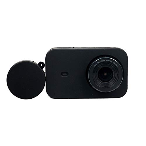 Sturdy Durable Anti-Scratch Silicon Gel Protective Case Cover with Lens Cover for Xiaomi Mijia Mini Action Camera 4K Sport Video Cam Accessory Convenient Practical (Colour : Black)
