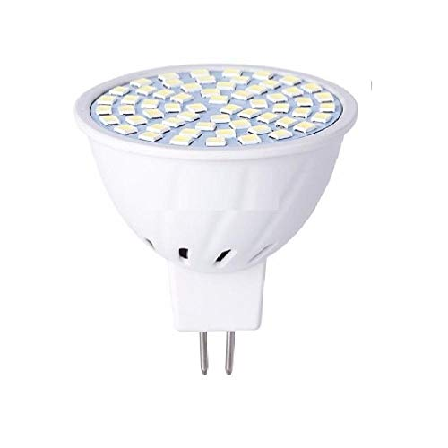 (8PCS) LED MR16 Lampadina spot E27 Lampada LED Lampada mais 220V E14 Faretto GU10 Bombillas LED GU5.3 48 60 80LEDS Lampara B22 5W 7W 9W-MR16 80 led 220V_Bianco caldo