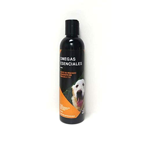 Aceite de pescado 100% natural para perros y gatos, suplemento líquido abundante en Omega 3 que contiene todos los ácidos grasos naturales EPA y DHA excelentes para mejorar su piel y pelaje, sistema inmunológico y salud cardiovascular (250 ml)