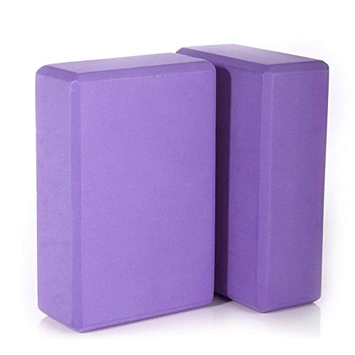 FEGSY Yoga Brick Block Set of 2 EVA Foam Block to Support and Deepen Poses, Improve Strength and Aid Balance & Flexibility (Multicolor)
