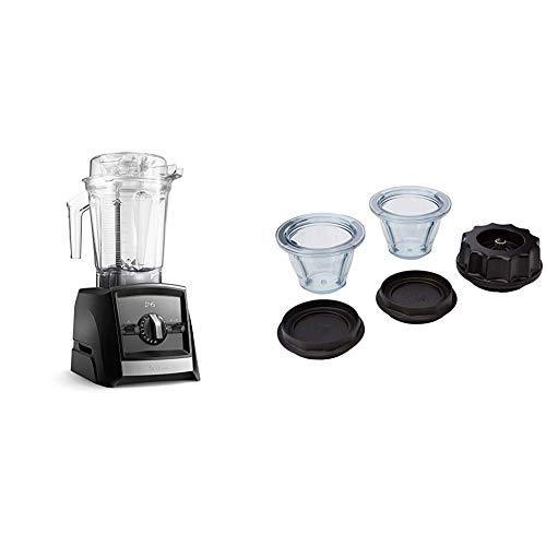 Batidora Vitamix Ascent A2500i Negra + Pack 2 vasos Ascent 225ml con base de cuchillas