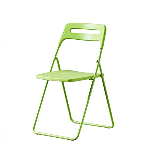 Folding chair Silla Plegable de Muebles, Silla de Ocio, Taburete de luz al Aire Libre, cómodo y Duradero, Adecuado for Oficina en casa (Color : Green)