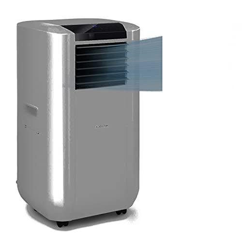 Klarstein Max Breeze Smart portátil, 3 en 1: Aire acondicionado, deshumidificador de aire, ventilador, A, 4 modos, control por app, 500 m³/h, 57-95 m², 15000 BTU / 4,4 kW, gris