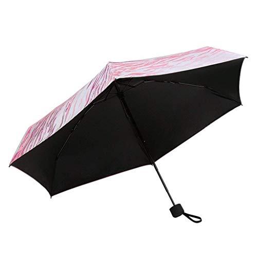 ZHENAO Paraguas Paraguas Ultra Luz Plegable Protector Solar Antiuv Adulto Mujer Cinco Veces Paraguas Sol Paraguas Pintura de secado rápido/A