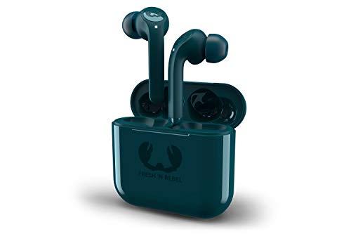 Fresh 'n Rebel Twins Tip True Wireless In-ear Headphones | Auricolari Bluetooth True Wireless Dual Master con 3 taglie di cuscinetti – Petrol Blue