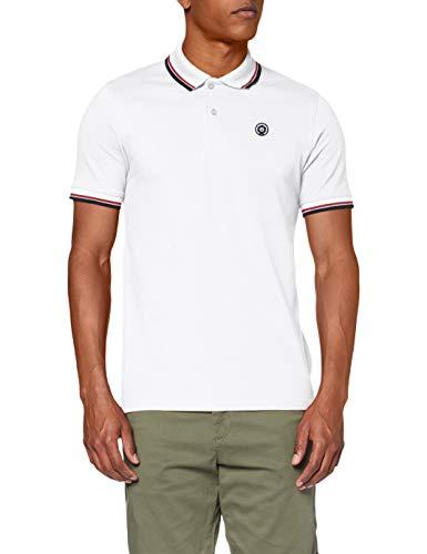 Jack & Jones JJENOAH Polo SS Noos Camisa, Blanco, L para Hombre