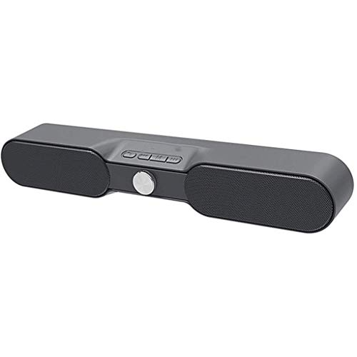 Soundbar, TV Sound Bar Stereo Soundbar, Channel 2,0, Wired & Wireless Bluetooth 4.2 Soundbar voor TV, Home Theatre-systeem TV Soundbar, Bluetooth/AUX/USB, afstandsbediening,Gray