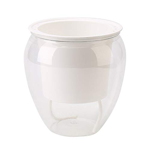 WBFN Automatische Self Watering Plant Flower Pot Water Container Put In Floor irrigatie for de tuin Indoor Home Decoration Gardening Bloempotten (Color : Large)