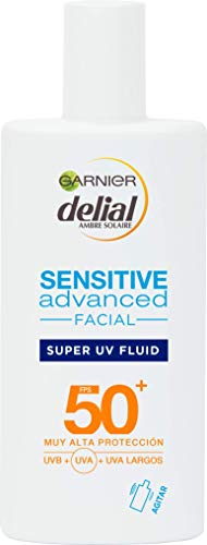 Garnier Delial Sensitive Advanced - Crema Facial Super UV Fluid con Ácido Hialurónico  IP50+ - 40 ml