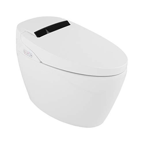 Rashinka Tall Toilets for Seniors 21 in - Integrated Toilet Elongated One Pc Elongated Toilet Home Improvement One Piece Bidet Toilet Smart Modern Bidet with Wireless Control