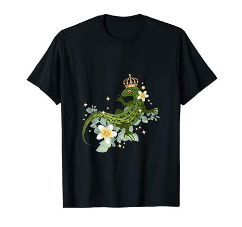 Biacco con corona e piante esotiche Maglietta