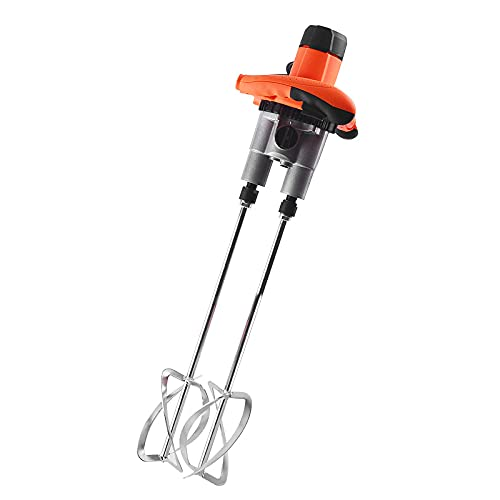LONGRING Electric Paddle Mixer Drill, 220V 1600W Double-Rod Speed Mixer, Idling Load 0-1000R/Min, 6-Speed Adjustment Speed