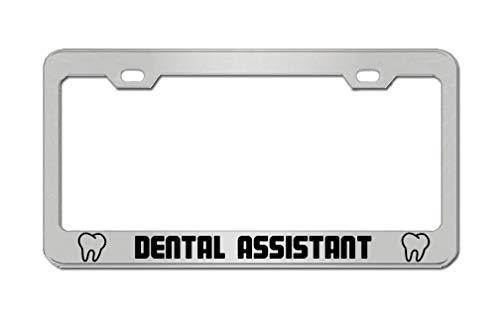 General Tag Dental Assistant Job Work License Plate Frame & Cover Car SUV Truck Aluminum