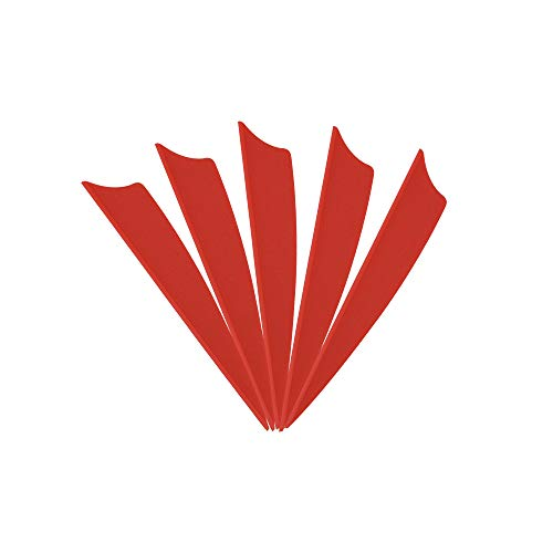 MILAEM 100 pièces Plumes de Fleche 1.75 Pouce Empennage Plume en Plastique Fletching Vanes pour Chasse au tir à l'arc