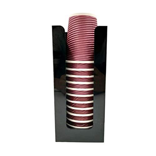 TOPBATHY - Organizador portavasos y Taza de café, 1 Unidad, Color Negro