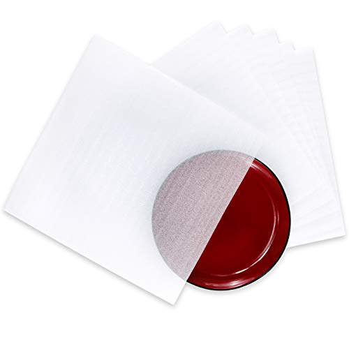 Foam Pouches UCGOU 12 x 12 Inch Cushion Foam Pouch as Dish Wrap and Glassware Packing Supply- Safely Wrap Dishes, Glass and Furniture, Packing Supplies Used for Moving 50 Pack