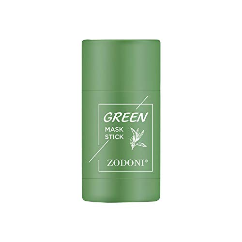 Té Verde Hielo Músculo Lodo sólido Película Facial Crema Facial Anti-acné Reducir los poros Cicatriz del acné , Control de Aceite en Barra de Arcilla purificadora de té Verde y Berenjena