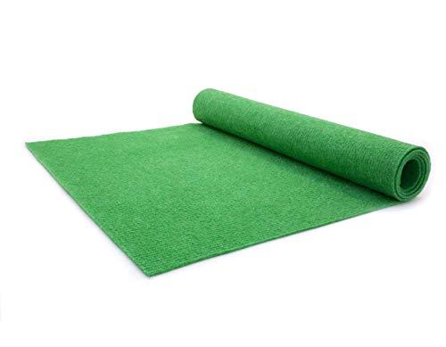Teppich-Boden Rips Malta B1 - Grün, 2,00m x 5,00m Rips-Nadelfilz, Schwer Entflammbar, Höhe ca.2mm, Gerippter Bodenbelag für Events und Messen