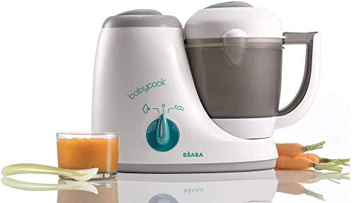 BÉABA - Babycook Original, Cuocipappa per Neonati, Omogeneizzatore 4 in 1: Frulla, Scalda, Cuoce a Vapore, Scongela, Robot per Pappe Rapido: 15 min, Accessori inclusi