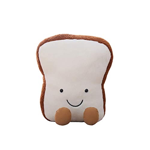 Creacom Toastbrot Plüschtier, Toastbrot Plüschtier 3D Simulation Brotform Kissen Toast Gefüllte Puppe 20 cm