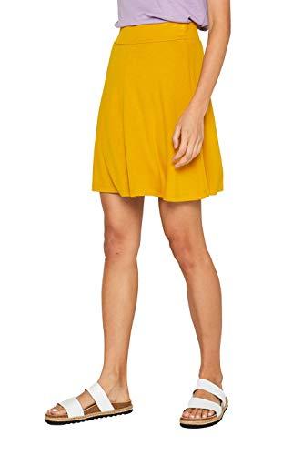 Falda elegante amarilla para mujer. (amarillo intenso)