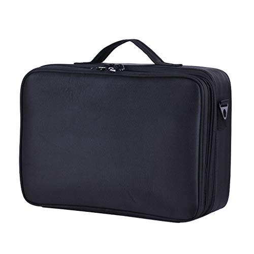 OCYE Makeup Train Case Professional, Cosmetic Cases Makeup Storage Organizer Box avec Sangle de Support réglable, Noir, 40 × 29 × 14cm
