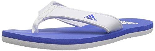 adidas - Strand, Zehentrenner, 2 K Unisex-Kinder , Weiá (White/Hi-res Blue/White), 30 M EU Kleines kind
