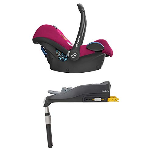 Maxi-Cosi Cabriofix, Babyschale Gruppe 0+ (0-13 kg), frequency pink, mit Isofix-Station