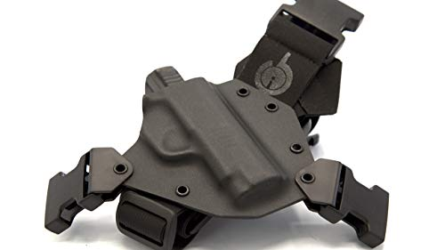 GunfightersINC Kenai Chest Holster for a SIG P365, Right Hand, Black-Black