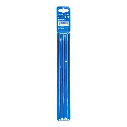 PFERD Kettensägefeilen, 3 Stück, rund, 200mm x 4,0mm, Spiralhieb, Classic Line, in Kunststofftasche, 11071203 – für das manuelle Schärfen von Sägeketten