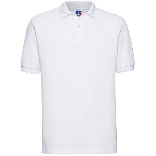 Russell - robustes Pique-Poloshirt - bis Gr. 6XL / White, M M,White