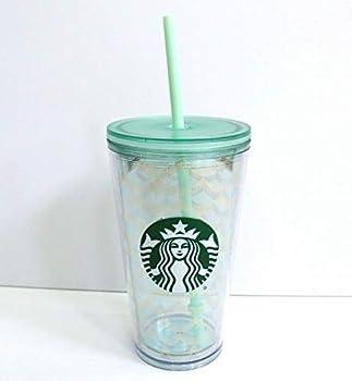 Starbucks Mermaid Scale Clear Acrylic Cold Cup Grande Tumbler 16 fl oz