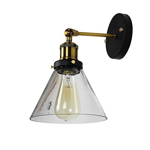 natsen® Lampe Mural en Verre Style Rétro Appliques L'Industrie Design Edison Nostalgie Éclairage mural pour E27 Lampe Lumière bd051