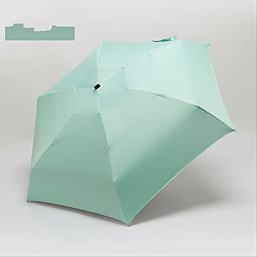 MUYAO Sunny Rain Umbrella Five Parasol De Vinilo Plegable Mini Paraguas De Bolsillo A Prueba De Viento Y Conveniente