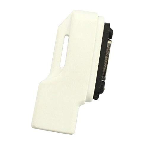 FLAMEER Micro USB Zu Magnetisch Ladekabel Adapter Für Sony Xperia Z1 Z2 Z3 Compact - Weiß