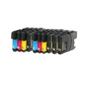 10 XL Patronen kompatibel für Brother DCP-J315W LC 985 LC 39 Sparset (4x schwarz & je 2x cyan magenta yellow)