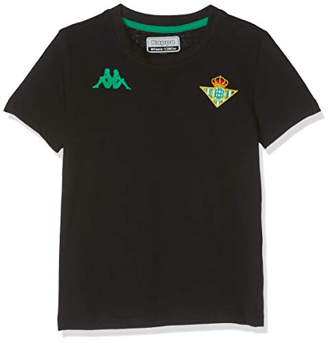 Kappa Real Betis Balompié 2019-2020 Niño, Camiseta, Negro