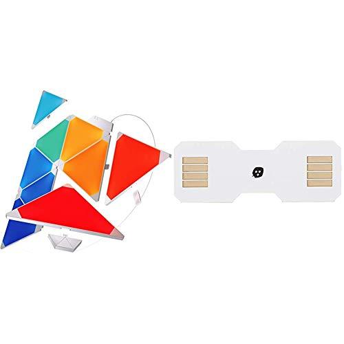 Nanoleaf Rhythm Music Syncing Smarter Kit - 9X Panels & Light Panels Flexible Linkers, White